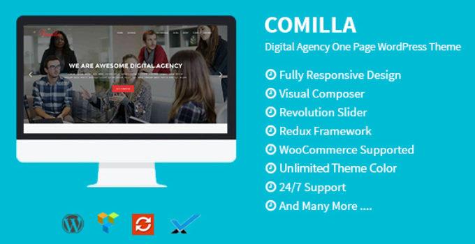 Comilla - Digital Agency One Page WordPress Theme