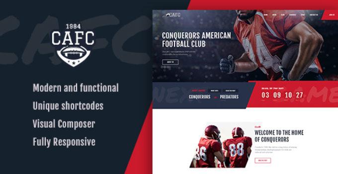 Conquerors   American Football Club WordPress Theme