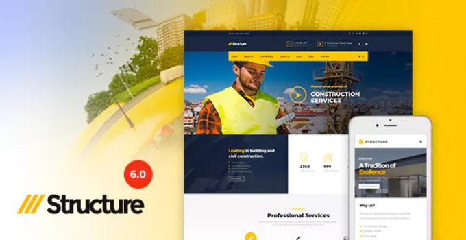 Construction Structure - Construction Industrial Construction Factory WP Theme