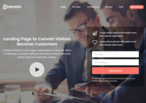 Conversi - Professional Conversion WordPress Landing Page