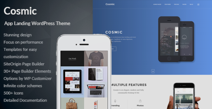 Cosmic - App Landing Multi-Purpose WordPress Theme