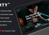 Crossfit Yoga Boxing Sport WordPress Theme - Forty