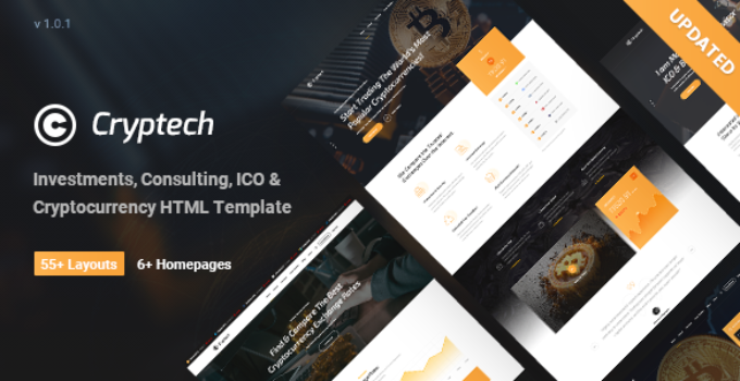 Cryptech - Investments, Consulting, ICO and Cryptocurrency WordPress Theme