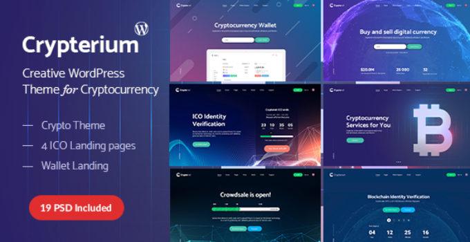 Crypterium - WordPress Cryptocurrency ICO Landing Page Theme