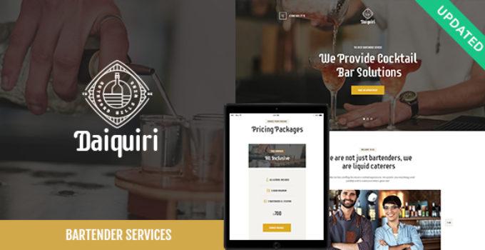 Daiquiri | Bartender Services & Catering WordPress Theme