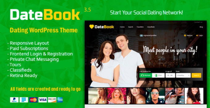 WordPress Template dating sivusto
