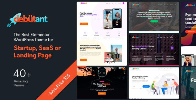 Debutant - Multipurpose WordPress theme for Startup and Agency