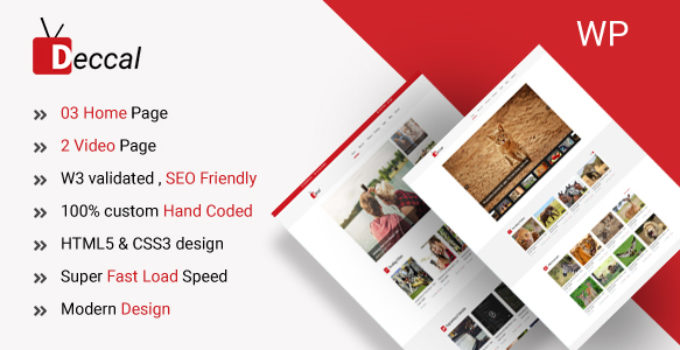 Deccal - Video Blogging WordPress Theme