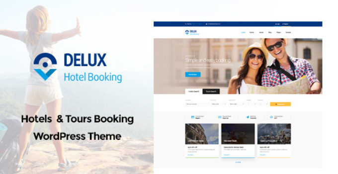 Delux - Online Hotel Booking WordPress Theme