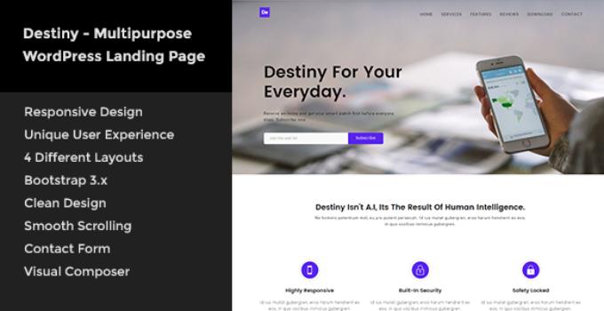 Destiny - Multipurpose WordPress Landing Page