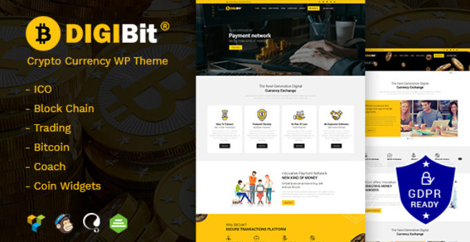 DigiBit - Cryptocurrency Mining WordPress Theme