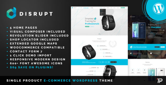Disrupt - WooCommerce Product WordPress Theme