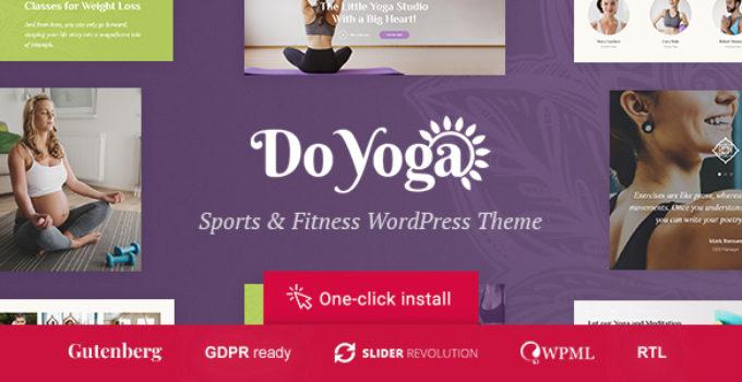 Do Yoga - Fitness Studio & Yoga Club WordPress Theme