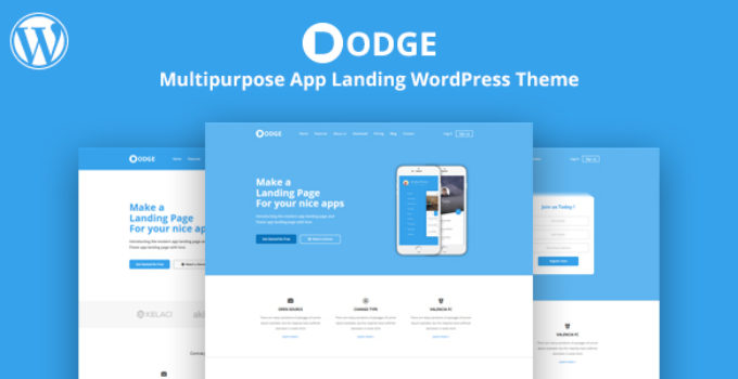 DODGE - WordPress App Landing Theme