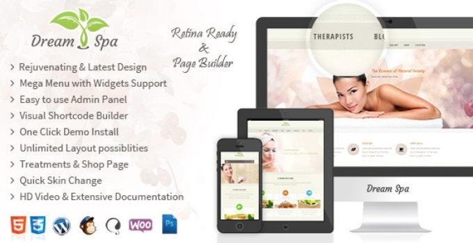 Dream Spa - Salon, Spa WordPress Theme