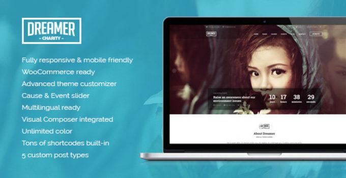 Dreamer - Multipurpose Charity WordPress Theme