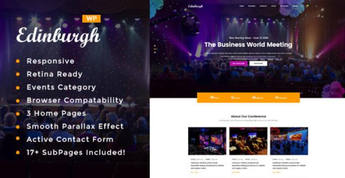 Edinburgh - Conference & Event WordPress Theme