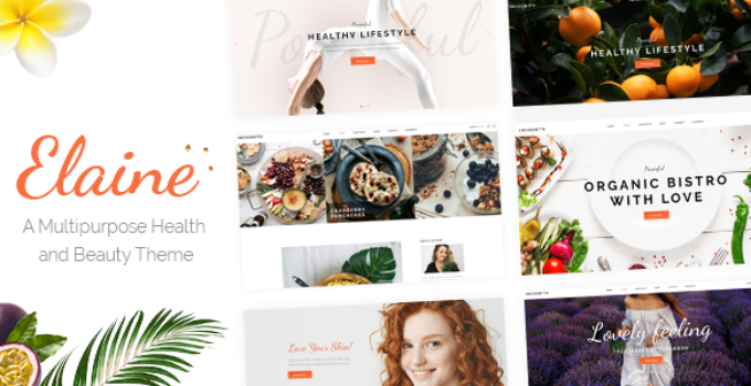 Elaine - Modern Beauty and Healthy Lifestyle Theme
