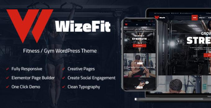 Elementor Gym & Fitness Clubs WordPress Theme - WizeFit