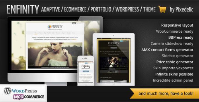 Enfinity - Adaptive Ecommerce Portfolio WP theme