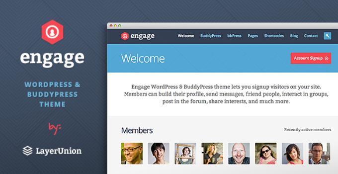 Engage - WordPress, BuddyPress, bbPress Theme