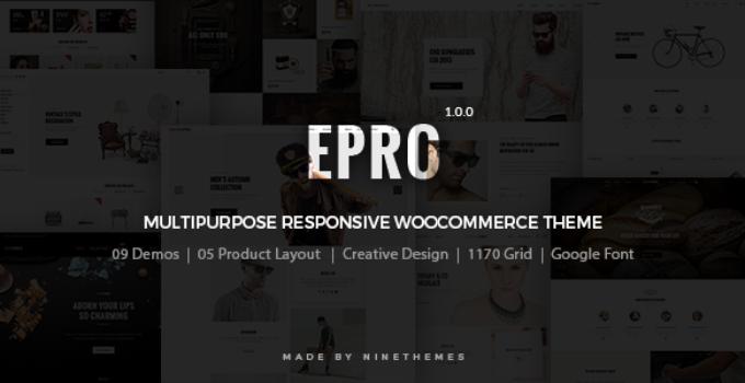 ePro - Multipurpose WooCommerce Theme