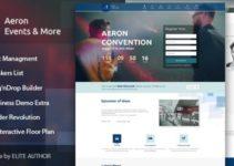 Event, Meeting, Convention & more - Aeron WordPress Theme