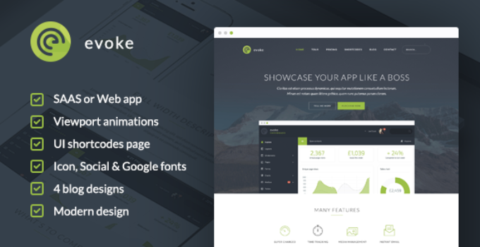 Evoke - WordPress Theme