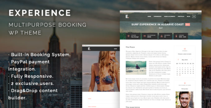 Experience – Multipurpose Booking WordPress Theme