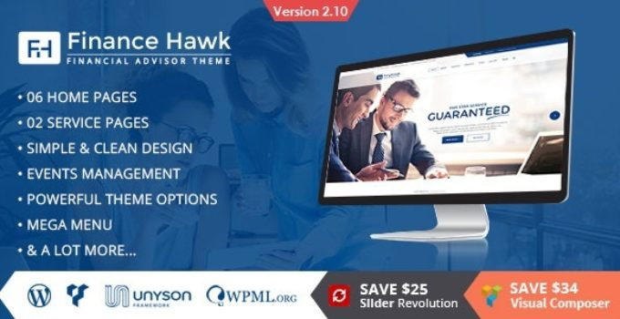 Finance Hawk - Finance and Consulting Business WordPress Theme