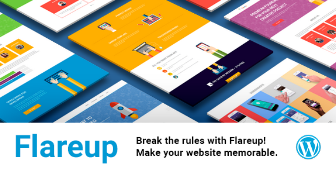 Flareup - Multipurpose Flat Responsive Wordpress Theme
