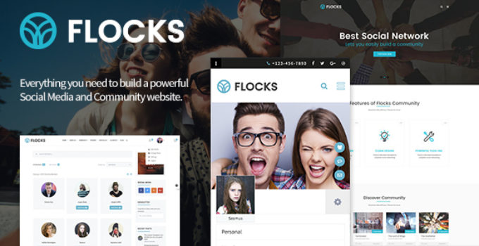 Flocks - Business, Social Networking, and Community WordPress Theme