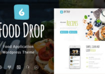 Food Drop | Food Ordering & Delivery Mobile App WordPress Theme