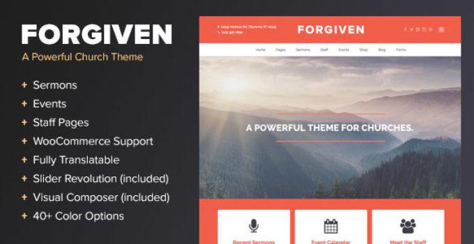 Forgiven - A WordPress Theme for Churches