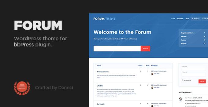 Forum - A responsive theme for bbPress plugin
