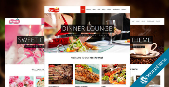 Frattini | A Premium Restaurant, Cakes and Coffee WordPress Template