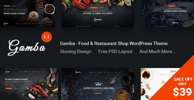Gamba - Food & Restaurant WordPress Theme