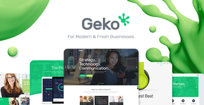 Geko - Smart Theme for Digital Businesses and Startups
