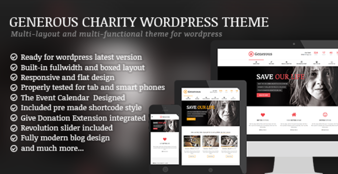 Generous - Charity / Non-Profit / Orphan / Fund-raising / Crowd-funding WordPress Theme