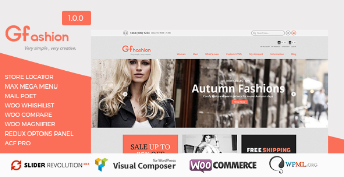 GFashion Woocommerce Store