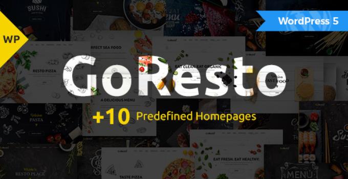 GoResto – Multipurpose Restaurant & Table Booking WordPress Theme