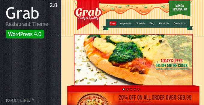 Grab Restaurant - WordPress Theme