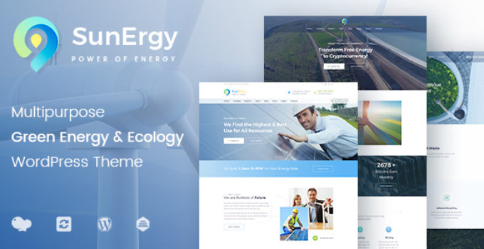 Green Energy and Ecology Multipurpose WordPress Theme - Sunergy