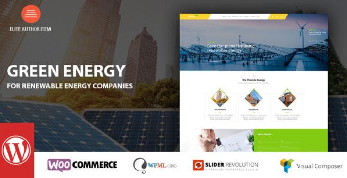 Green Energy - For Renewable Energy Company WordPress Theme