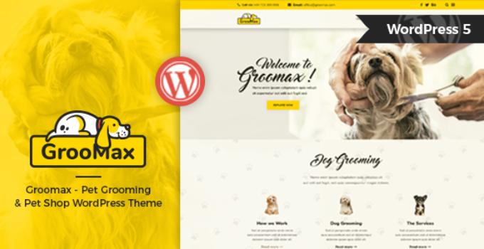 Groomax - Pet Grooming & Shop WordPress Theme
