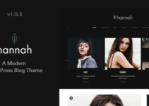 Hannah - A Modern WordPress Blog Theme