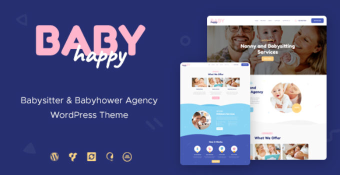 Happy Baby | Nanny & Babysitting Services WordPress Theme