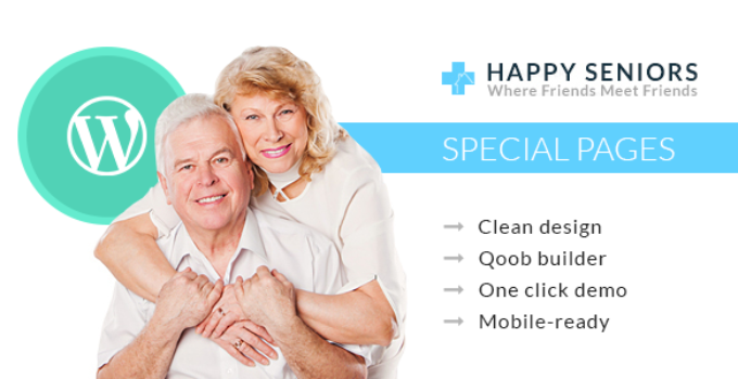 Happy Seniors - Senior & Medical Care WordPress Theme