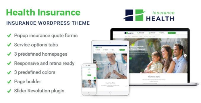 Health Insurance - Insurance WordPress Theme