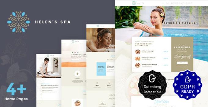 Helen's Spa - Beauty Spa, Health Spa & Wellness Theme
